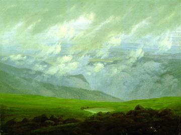 Canvas doek Ziehende Wolken
