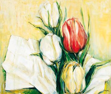 Canvas doek Tulipa Antica