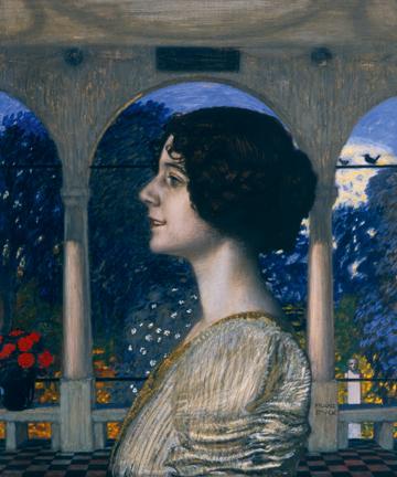 Canvas doek Weibliches Portrait