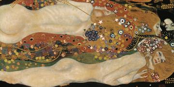 Canvas doek Wasserschlangen II
