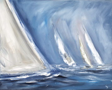 Canvas doek Wind blows