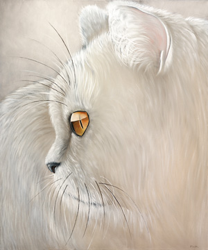 Canvas doek White Tiger