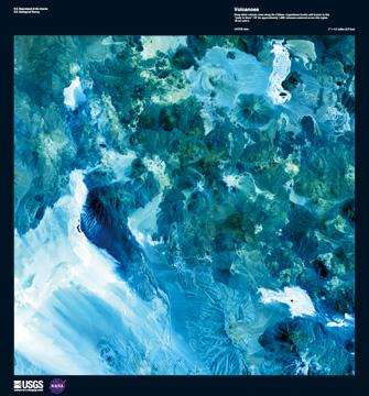 Canvas doek Volcanoes