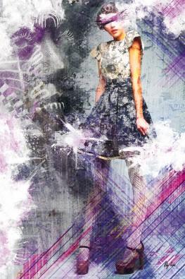 Canvas doek untitled five 03