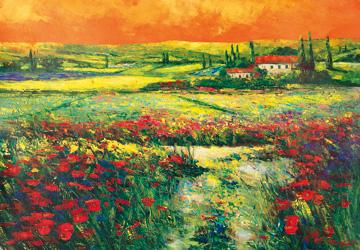 Canvas doek Toskana