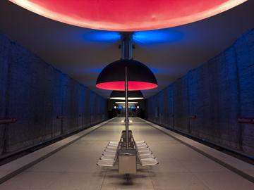 Canvas doek U Bahn Westfriedhof, München