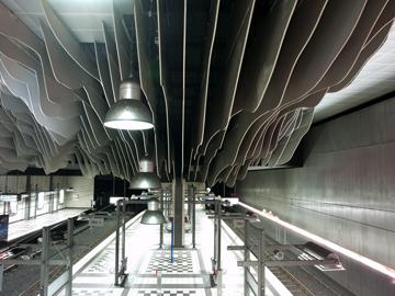 Canvas doek U Bahn Hauptbahnhof, Bielefeld