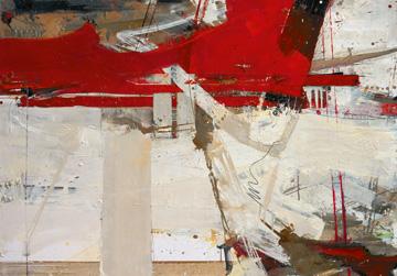 Canvas doek Zwei Gedanken auf dem Weg zum Tu