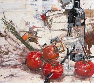 Canvas doek Und sieht die rote Frucht