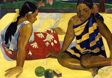 Canvas doek Zwei Frauen auf Tahiti