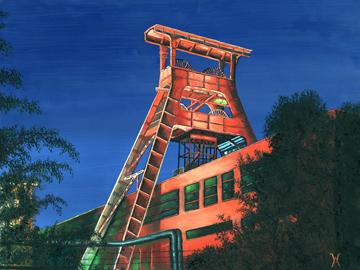 Canvas doek Zeche Zollverein