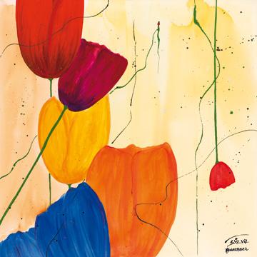 Canvas doek Tulpen