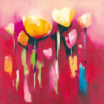 Canvas doek Townflowers V