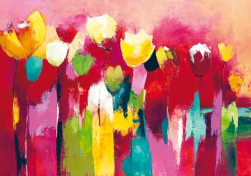 Canvas doek Townflowers II