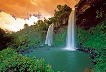 Canvas doek Waterfall Dos Hermanas