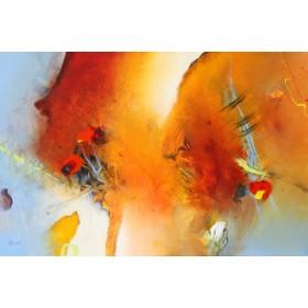 Canvas schilderij Spuren in die Zukunft