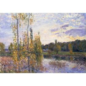 Canvas schilderij Landschaft bei Chevreuil