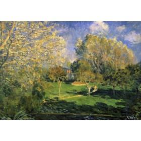 Canvas schilderij Der Garten von Monsieur Hoschéde
