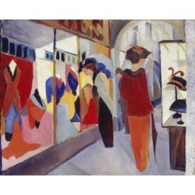 Canvas schilderij Modegeschäft