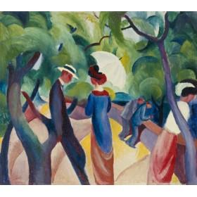 Canvas schilderij Promenade
