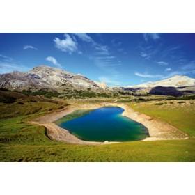 Canvas schilderij Dolomiten See