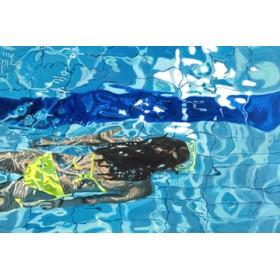 Canvas schilderij Die blaue Schwimmerin No. 5