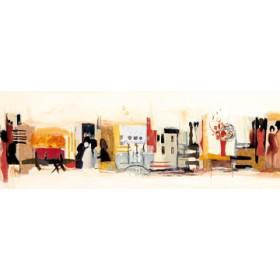 Canvas schilderij Begegnungen III