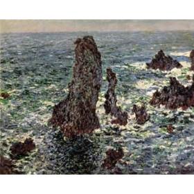 Canvas schilderij Felsen im Belle-Ile