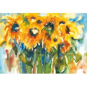 Canvas schilderij Sonnenblumen