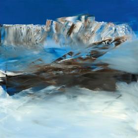 Canvas schilderij Eislandschaft I