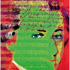 Canvas schilderij Mozart 4
