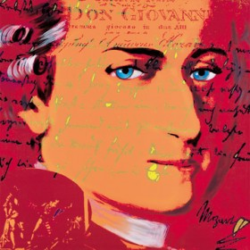 Canvas schilderij Mozart 5