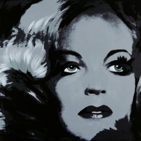 Canvas schilderij Romy Schneider 1