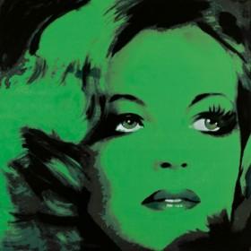 Canvas schilderij Romy Schneider 2