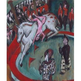 Canvas schilderij Die Zirkusreiterin