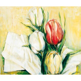 Canvas schilderij Tulipa Antica