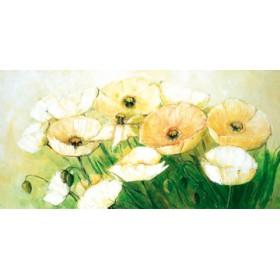 Canvas schilderij Tender Poppies