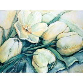 Canvas schilderij Tender Tulips
