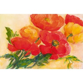 Canvas schilderij Splendid Poppies