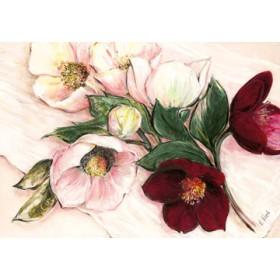 Canvas schilderij Elegant Anemones