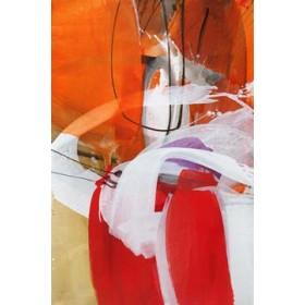 Canvas schilderij Red Expression I