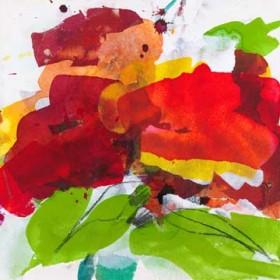Canvas schilderij Red Blossom