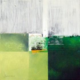 Canvas schilderij Composizione verde I