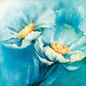 Canvas schilderij Symphonie in Blau