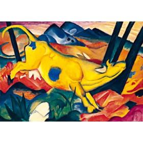 Canvas schilderij Die gelbe Kuh