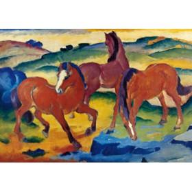Canvas schilderij Die roten Pferde