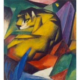 Canvas schilderij Der Tiger