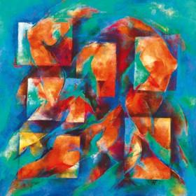 Canvas schilderij Symphonie des Lebens
