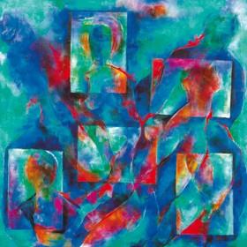 Canvas schilderij Amor und Psyche