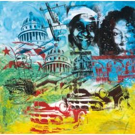 Canvas schilderij Viva Comandante